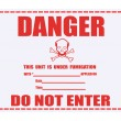 Danger Fumigation Waning Label — Stock Photo