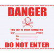 Danger Fumigation Waning Label — Foto de Stock
