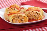 Lasagna Roll-ups — Stock Photo
