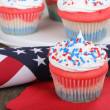 4th of July Cupcake — Stock Photo