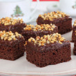 Stock Photo: Nutty Fudge Brownies