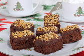 Plate of Christmas Brownies — Stock Photo