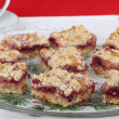 Platter of Cranberry Bars — Stock Photo