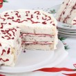Stock Photo: White Layer Cake