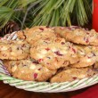 Christmas Cranberry Nut  Cookies — Stock Photo