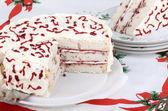 White Layer Cake — Stock Photo