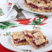 Cranberry Christmas Bars — ストック写真