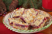 Christmas Cranberry and Peanut Butter Bars — Stock Photo