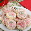 Plate of Christmas Cookies — Stok fotoğraf