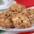 Plate of Cranberry Cookies — Stockfoto