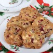 Platter of Cranberry Cookies — Stock Photo