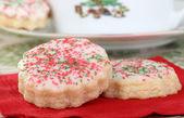 Vánoční cookie closeup — Stock fotografie