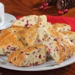 Plate of Cranberry Scones — Stockfoto