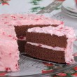 Serving Slice of Cake — Stockfoto