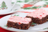 Two Christmas Brownies — Stock Photo
