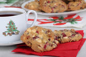 Cranberry Christmas Cookies — Stock Photo