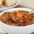Vegetable Beef Soup — Stock Photo