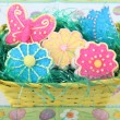 Stock Photo: Easter Flower and Butterfly Cookies