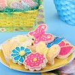 Stock Photo: Flower and Butterfly Cookies