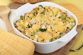 Chicken and Noodle Casserole — Stock Photo