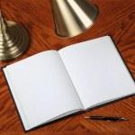 Opened notebook — Stock Photo #38028003