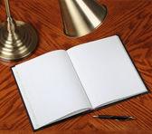 Opened notebook — Stock Photo
