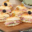 Ham and Cheese Appetizers — Stock Photo #38096447