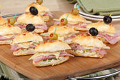 Ham and Cheese Appetizers — Stock Photo