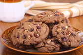 Plate of Chocolate Chip Cookies — Stock Photo