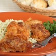 Baked Chicken and Rice Dinner — Stock Photo