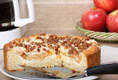 Apple Nut Coffee Cake — Stock Photo