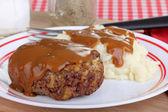 Salisbury Steak and Gravy — Stock Photo