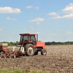 Planting a Farm Field — Stock Photo