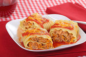 Lasagna Roll-ups — Stock Photo