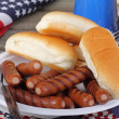 Patriotic Hot Dogs — Stockfoto