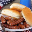 Patriotic Hot Dogs — Stock Photo