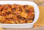 Sausage Rigatoni Casserole — Stock Photo