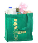 Reusable Grocery Bag — 图库照片
