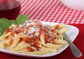 Penne Pasta Meal — Stock Photo