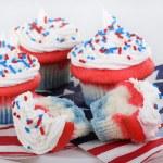 Patriotic Cupcakes — Stock Photo