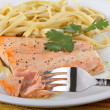 Salmon Fillet Meal — Stock Photo