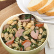 Stock Photo: Kielbasa Spinach Soup