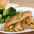 Stock Photo: Chicken Breast with Stuffing