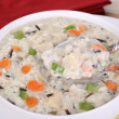 Stock Photo: Spoonful of Chicken and Rice Soup