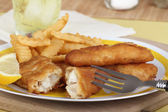 Battered Fish Fillets — Stock Photo
