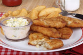 Battered Fish Fillet Meal — Stock Photo