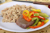Beef Sirloin Steak Meal — Stock Photo