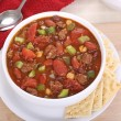 Chili with Tomato and Peppers — Stock Photo