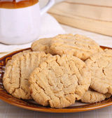 Plate of Peanut Butter Cookies — Stock Photo