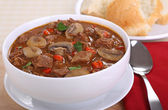 Beef and Mushroom Soup — Stock Photo
